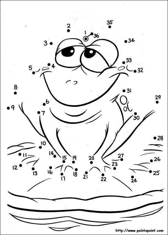 Point point points relier de grenouille - Point a relier enfant ...
