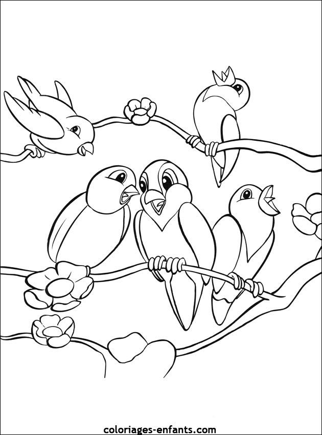 coloriage d u0026 39 oiseaux  u00e0 imprimer de coloriages