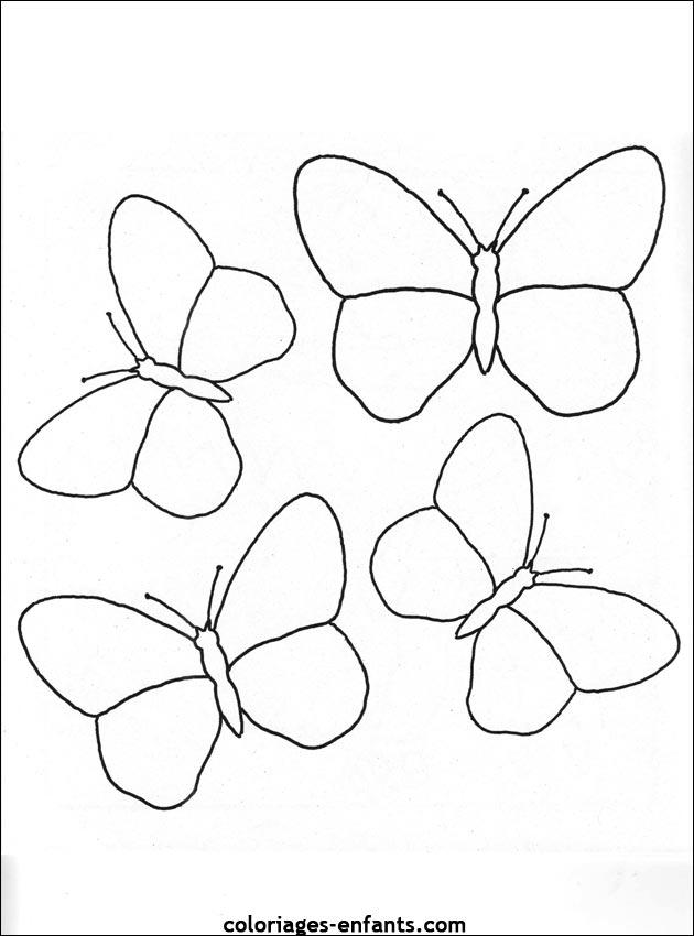 Coloriage d 39 papillons de la rubrique animaux imprimer de - Image papillon a colorier ...
