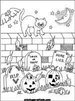 Coloriages d'halloween