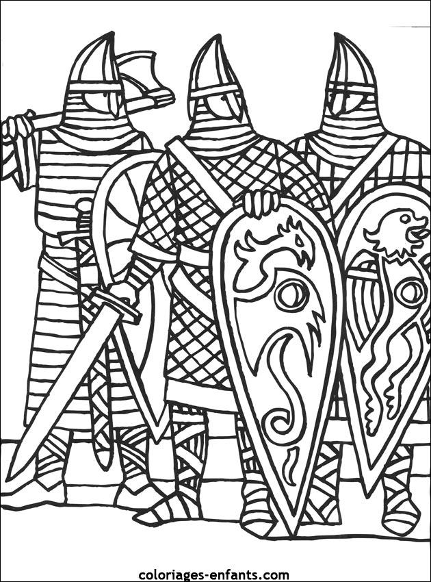 Les coloriages de chevaliers imprimer - Dessin anime chevalier de la table ronde ...