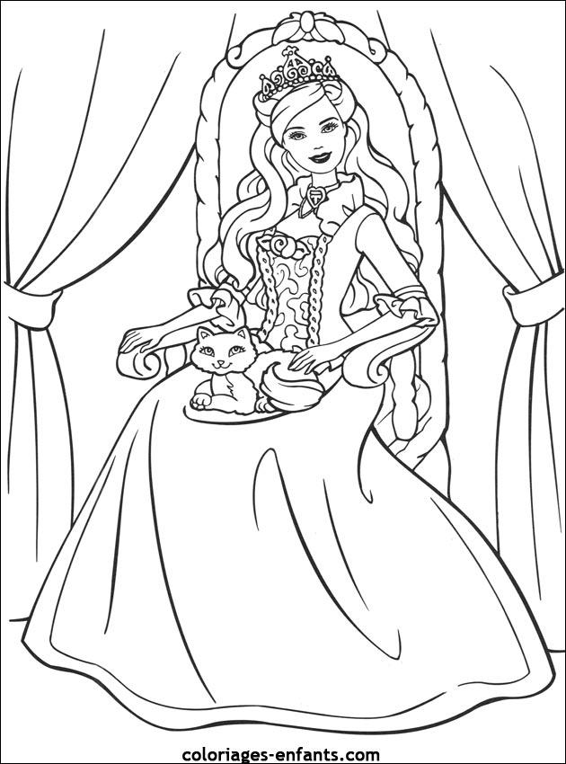 coloriages princesse