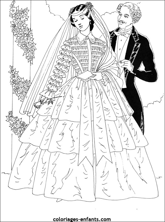 coloriages princesse - Coloriages Princesse