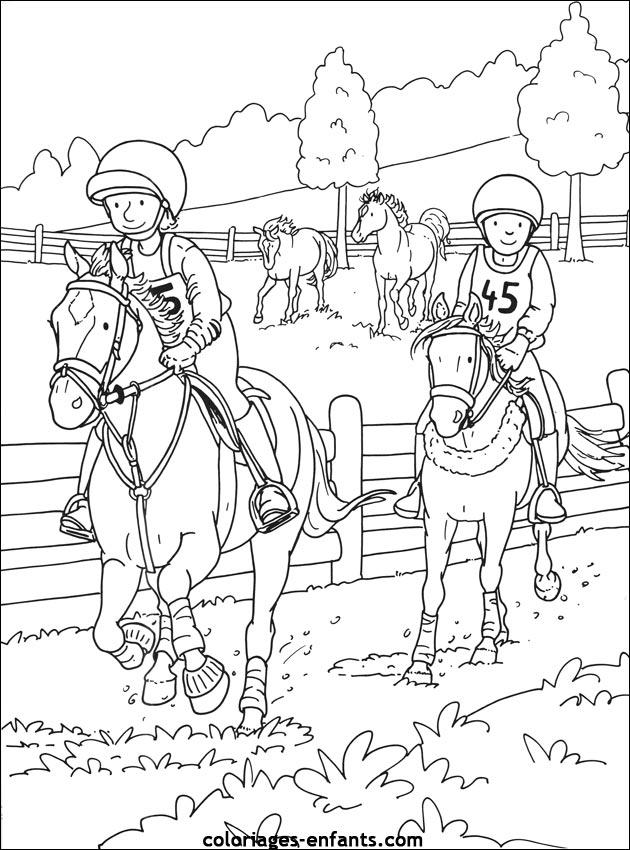 Les coloriages d 39 quitation imprimer sur coloriages - Coloriage equitation ...