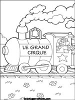 Coloriages de trains