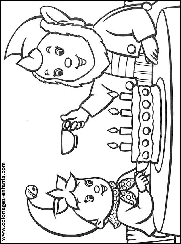Coloriage d'anniversaire à imprimer sur Coloriages-enfants.com