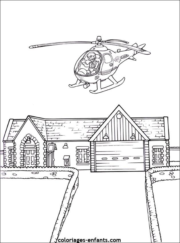 Les coloriages de helicopteres imprimer sur coloriages - Dessin de pompiers a imprimer ...